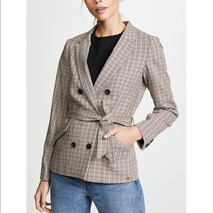 Scotch & Soda Plaid Double Breasted Blazer Jacket